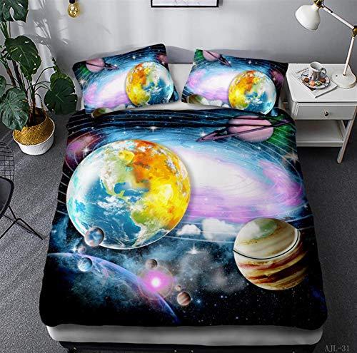 Wjmss Duvet Cover Set 3D Star Bedding Set 2 Pieces with Pillow Sham Single double Twin/Queen 2pcs/3pcs,228 * 228cm