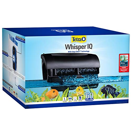 Tetra Whisper IQ Power Filter 60 Gallons, 300 GPH, with Stay Clean Technology