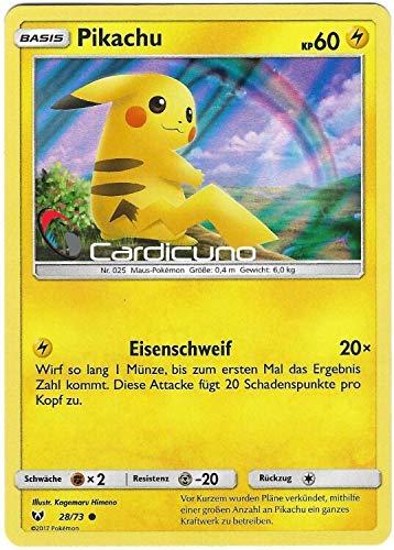 Pikachu 28/73 Holo Pokémon Sonne & Mond Schimmernde Legenden Sammelkarte - Deutsch - Cardicuno