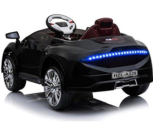 RC Auto kaufen Kinderauto Bild 3: Toyas Kinder Elektro Auto Sportwagen Cabrio Kinderfahrzeug mit Fernbedienung MP3 LED schwarz*