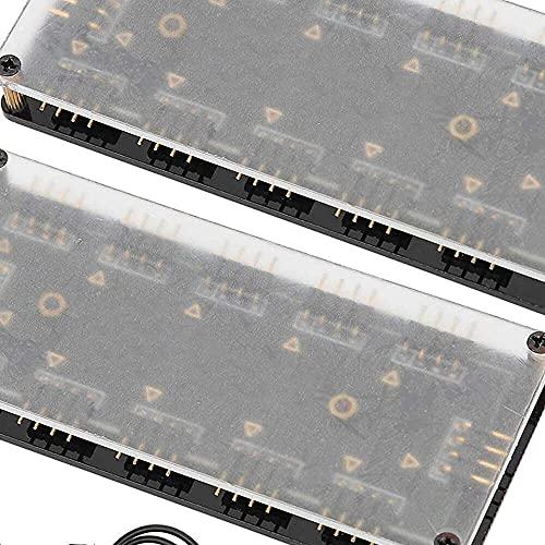 Yuyanshop Hub de ventilador de PC, cinco juegos de conectores de ventilador, con tablero acrílico de 3 mm, cubo de ventilador RGB de 12 V/4 pines