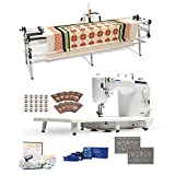 Juki TL-2010Q 9' Long-arm Machine, Grace Continuum Quilting Frame, SureStitch Regulator, Pattern Templates, 100 Needles,