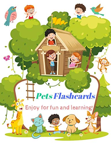 Pets Flashcards: Different Pet Cards for Kid and Preschool to Learning, Skill development (English Edition)