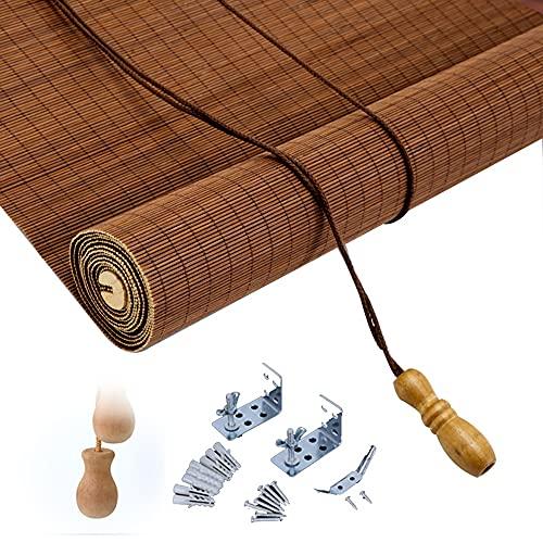 ASDFGHJ Estores de Bambú Retro, Persianas de Bambú para Terraza a Prueba de Sol, Cortina de Bambú Transpirables Que se Pueden Personalizar para Uso en Interiores y Exteriores