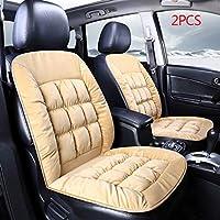 暖かい車のシートカバー冬のぬいぐるみ自動車シートカバーインテリアアクセサリー 滑り止めと汚れに強い (Color Name : 1pc Black)