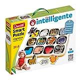 Quercetti-Quercetti-0230 Smart Puzzle Animales de Granja magnéticos, Multicolor (0230)