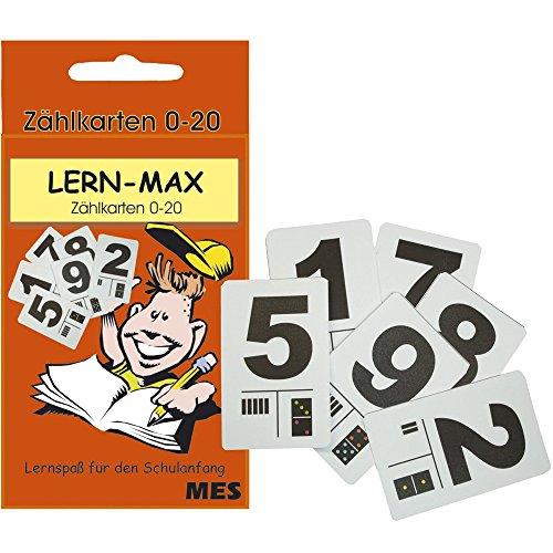 Ziffernkarten, Zählkarten 0-20