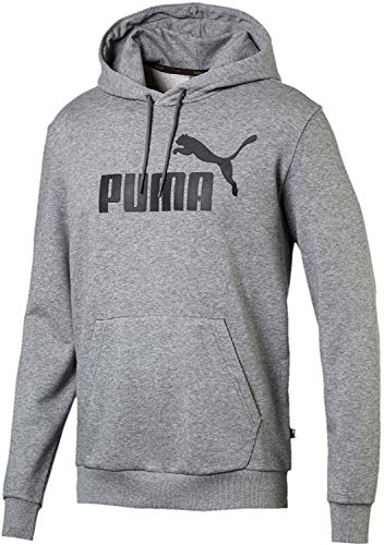 PUMA Herren ESS Hoody TR Big Logo Sweatshirt, Medium Gray Heather, M