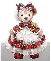 テディベア通販アリス シェリーメイ 服 コスチューム ケープ付赤チェックドレス クリスマス 本体無 Sサイズ用
