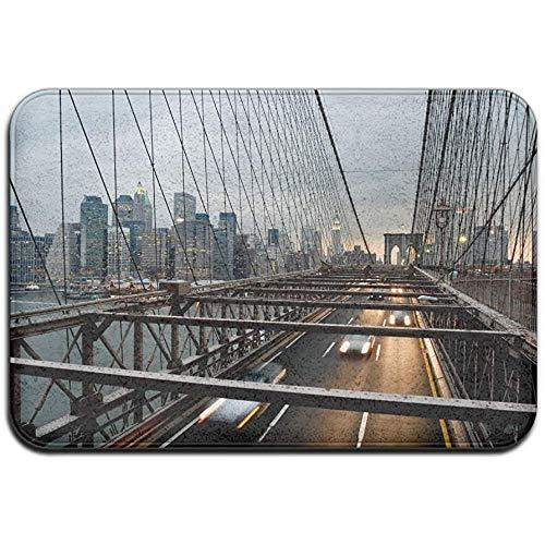 Qinzuisp deurmat New York Bridge City Outdoor rubber veranda binnenbadmat standaard huisdeur mat tapijt garage vermelding tapijt Welcome Home 40X60cm