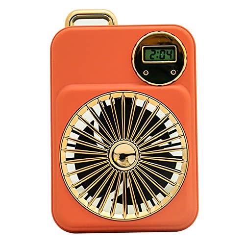 GYAM Ventilador de Mano Cordón de Carga USB al Aire Libre Mini Ventilador eléctrico Pequeño Ventilador portátil Personal para el hogar de Estudiantes Oficina Viajes al Aire Libre,Rosado