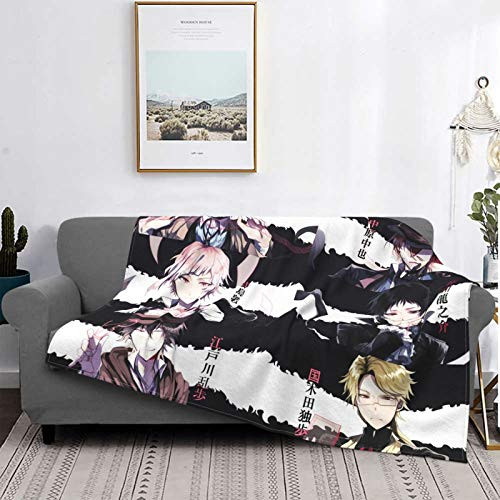 Gua Tan B-Ungou S-Tray - Manta de felpa ultra suave, manta de forro polar para sofá, cama y sala de estar de 127 x 106 cm