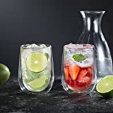 Glastal Doppelwandige Latte Macchiato Glaser Set Kaffeeglas Trinkgläser 6-teiliges 350ml (Volle Kapazität) - 5