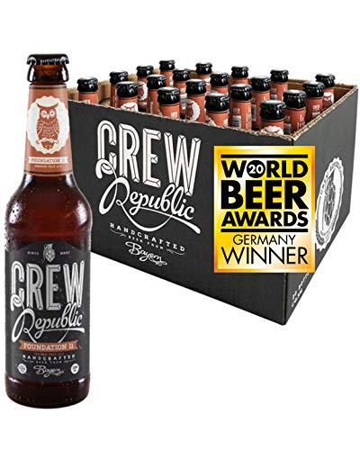 CREW REPUBLIC® Foundation 11 - German Pale Ale Craft Bier | Gewinner World Beer Awards 2020 American-Style Pale Ale | Bierspezialität nach deutschem Reinheitsgebot in Bayern gebraut (20 x 0,33l)