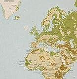 0,63 m (1 Rapport) Dekostoff Emilia Landkarte, Webware