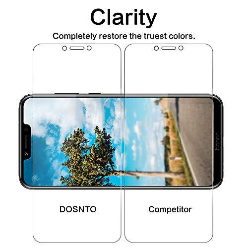 DOSNTO [2 Stück Panzerglas Schutzfolie für Huawei Honor Play, 9H Härte, Anti-Kratzer, Anti-Öl, Anti-Bläschen, Anti-Fingerprint Displayschutzfolie Panzerglasfolie - 3