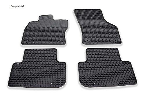 günstig FOKU13-G4 Bodenmatte 4-teiliges Gummi-Fußmatten-Set, schwarz Vergleich im Deutschland