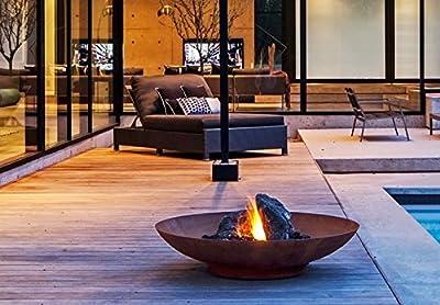 Primrose 60cm Corten Steel Fire Pit and Water Bowl by Primrose