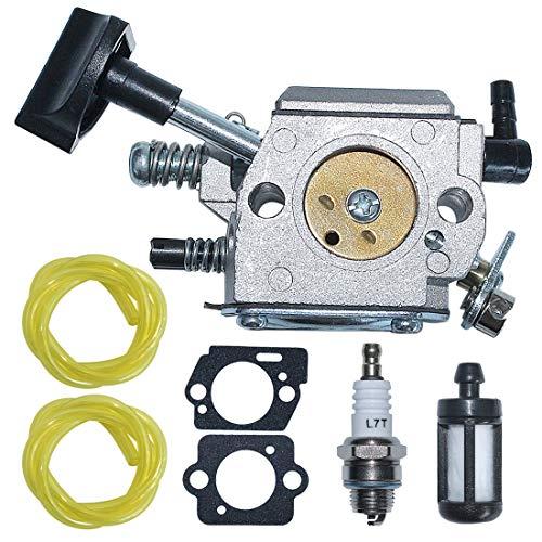 AUMEL 4203 120 0601 Vergaser Kraftstofffilterleitung Dichtung mit Zündkerzensatz Für Stihl SR320 SR340 SR380 SR400 SR420 BR320 BR340 BR380 BR400 BR420 Rucksackgebläse teile.