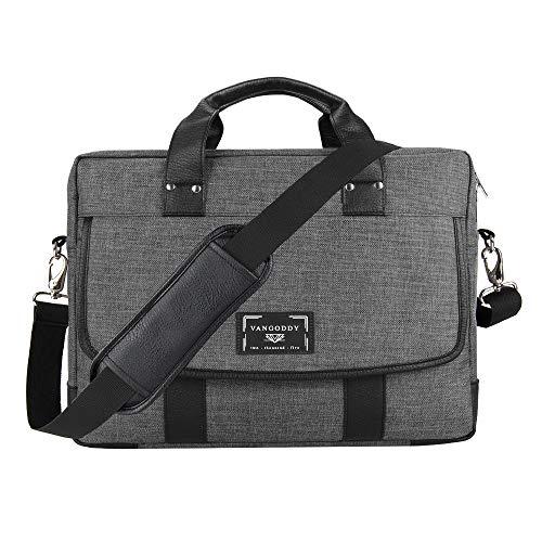 16 17.3 Inch Unisex Messenger Bag Laptop Crossbody Shoulder Bag Waterproof Carrying Handbag Briefcase for Laptop Ultrabook MacBook Chromebook HP Acer Asus Lenovo Dell Razer MSI