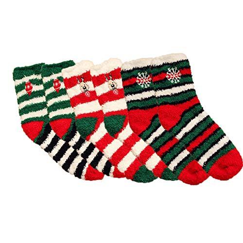 Ambolio 3 Pairs,Womens Christmas Socks,Christmas Soft...