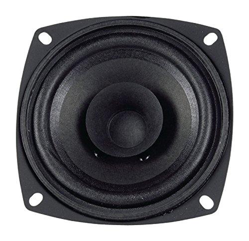 Visaton VS-FR10/8–Lautsprecher (schwarz, auf Putz/Deckenleuchte, 80–20000Hz, 127,5x 127,5x 47mm, Grille 10ist Grille 10R/134Grille 10RS Grille 10PL Grille 10R/134(B/CH.))