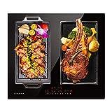 CIARRA CBBIH4BFF Placa inducción 4 Zonas Cocina Integrada, Control Táctil Deslizante, Calentamiento Rápido, Función...