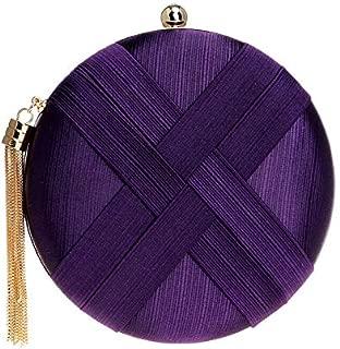 TOOGOO Fashion Women Bag Tassel Metal Small Day Clutch Purse Handbags Chain Shoulder Lady Evening Bags Phone Key Pocket Bags Pink