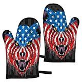 hgdfhfgd USA Flag Cat Head Eps with Editable Layer Oven Mitts Heat Resistant...