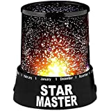 SELLER ZONE Star Master Projector Night Rotating lamp And Color Changing with USB Wire - Sky Starry Night Star Projector 16 x 10 x 5 (Multicolor, Plastic, Pack Of 1 Pcs)