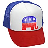 The Goozler Republican Elephant - Grunge Style Retro Look - Unisex Adult Trucker...