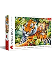 Trefl 26159 två tiger 1500 delar, premiumkvalitet, för vuxna och barn från 12 år, färgade