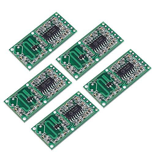 WHDTS 5PCS RCWL-0516 Microwave Radar Motion Sensor Module for Arduino Smart Switch Module Human Body Induction Module 5-7M Detection Distance 4-28V 100mA