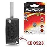 Coque pour Télécommande Plip Clé Peugeot 107 207 308 307 407 807 3008 Partner  Pile CR1620 Energizer - Kit iRace Keys