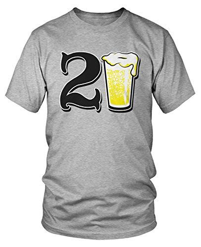Amdesco Men's 21 Years Old, 21st Birthday T-Shirt, Heather Gray 3XL