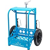 Dynamic Discs Backpack Disc Golf Cart LG by ZÜCA   Sturdy, Patented Frame Doubles as a Portable Disc Golf Seat   Off-Road Disc Golf Caddy (Blue)
