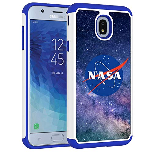 Galaxy J7 Refine/J7 2018/J7 Star/J7 Top/J7 Aura/J7 Aero Case - Outer Space Galaxy Sky NASA Pattern Shock-Absorption Hard PC and Inner Silicone Hybrid Armor Defender Case for Samsung Galaxy J7 2018