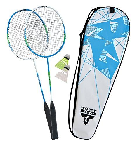 Talbot Torro Premium Badminton-Set 2-Combat, 2 Graphit Comp. Schläger, 2 Federbälle, in wertiger Tasche, 449504