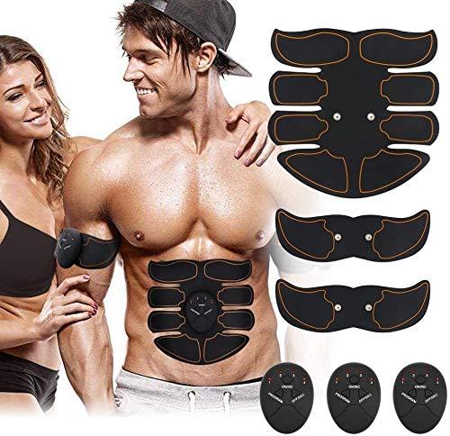 MATEHOM Electroestimulador Muscular Abdominales, EMS Estimulador, Abdomen/Brazo/Piernas 6 Modos y 9Niveles de Intensidad (Hombres/Mujeres)