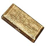 SSLW 20 Estuche De Cigarrillo Pequeño Hombres Soporte Cobre Retro Impermeable Puede Acomodar,Oro,108.5X63.5X18MM