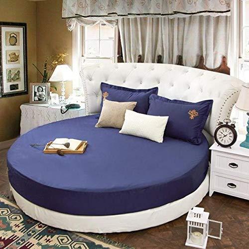 HPPSLT Protector de colchón, con Aloe Vera, (Todas Las Medidas) Faldón de Cama Redondo de algodón Redondo -19_2.2m