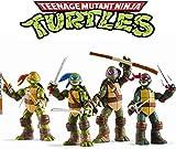 Ninja Turtles Set of 4 Pieces -Teenage Mutant Ninja Turtle Action Doll-Action Doll-Ninja Turtle Toy Set-Teenage Mutant Ninja Turtle Action Doll A for Children