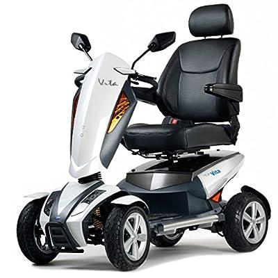 TGA Mobility Vita 8 mph Mobility Scooter - Metallic White
