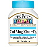 21st Century Cal Mag Zinc +D Vitamin - 90 Tablets, Pack of 2