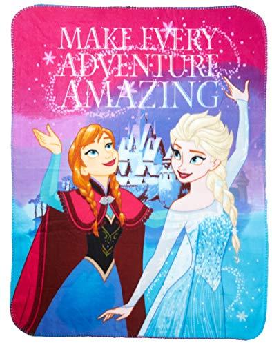 Disney Frozen Fleece Throw Blanket-Soft and Warm (Amazing Adventure), One Size, Multi