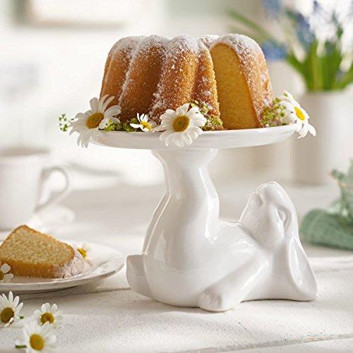 Gâteau assiette lapin-mini tarte stand-table décoration Pâques-blanc