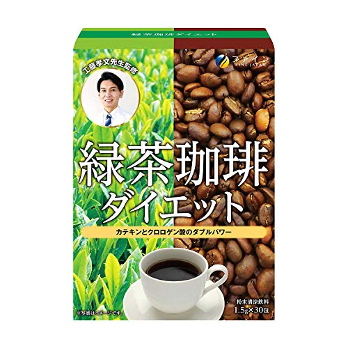 FINE JAPAN Green Tea & Coffee Diet (30 Sticks / 30-Day Course)
