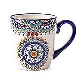 LYJ Platos de postre laterales de porcelana Juego de platos mediterráneos Cuenco y placa Combinación Cerámica Postre/ensalada/fruta plato (múltiples estilos disponibles), C