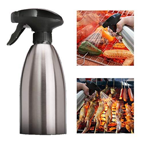 Dispensador de Pulverizador de Aceite de Oliva e Vinagre - Acero Inoxidable/Vidrio Botella de Rociador Spray para Barbacoa/Ensalada/Hornear Pan/Cocina 500 ml