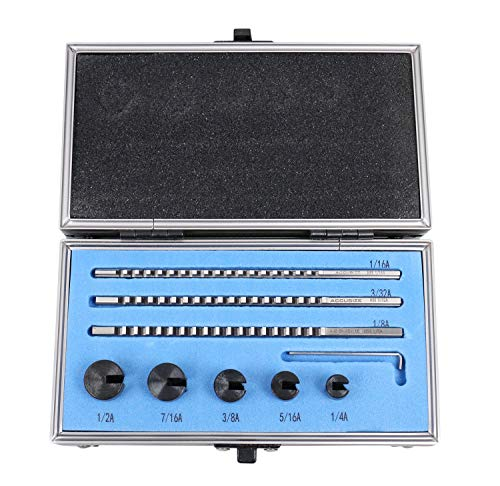 Accusize Industrial Tools No.00 Hss Keyway Broach Precision Sets in Fitted Wooden Box, 5100-0001